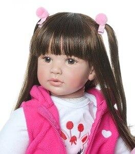 Image 3 - 60CM NPK Boneca Reborn 24inch Soft Silicone Vinyl Doll 60cm Soft Silicone Reborn Baby Doll Newborn Lifelike Bebes Reborn Dolls