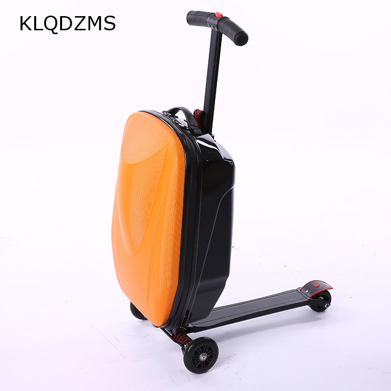 KLQDZMS New Designe 20inch  Scooter Luggage ABS Suitcase With Wheels Skateboard Rolling Luggage Travel Trolley Case