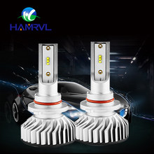 2Pcs NEW Design F2 With ZES Chip H1 H3 H4 H7 H11 9005 9006 Car Headlight LED Bulbs All In One LED H4 9012 HIR2 60W 10000LM 6000K(China)