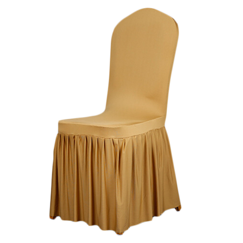 Chair Cover Us 10 36 39 Off Aliexpress Buy Home Chair Cover Polyester Spandex Dining Chair Covers For Wedding Party Chair Cover Brown Dining Chair Seat