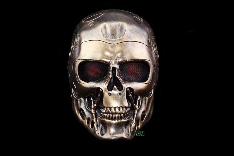 Diable Horreur Terminator Résine Masque Date Robot Effrayant Anonyme Masques Adultes Plein Visage Mascaras Halloween 2 Couleurs Disponibles