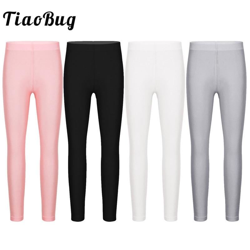 TiaoBug Kids Girls Dance Pantyhose Stockings Children Solid Color Stretchy Seamless Leggings Tights Yoga Gymnastics Ballet Pants