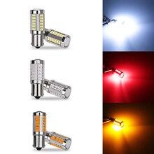 2 шт. 1156 BA15S P21W 33 led 5630 smd автомобилей габаритные огни стоп-сигналы Авто дневного света Обратный лампы синий белого и желтого цвета красный