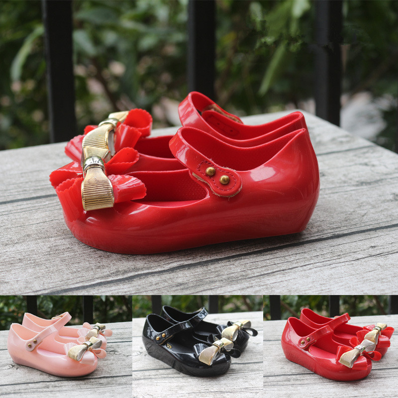 Melissa Original Cute Bowtie Girls Jelly Sandals 2019 New Shoes Toddler Beach  Breathable 15-18cm