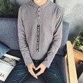 Высокое качество 2016 Новая Мода С Длинным Рукавом Мужчины 100% Хлопок Повседневная Дышащий Фитнес Мужчин, Рубашки Поло, футболки 5 Цвета