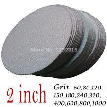 30 Pc/lot Dry Grinding 2 Inches 50MM Abrasive Paper Flocking Sandpaper Pad Sanding Disc Woodworking Electric Grinder Accessories