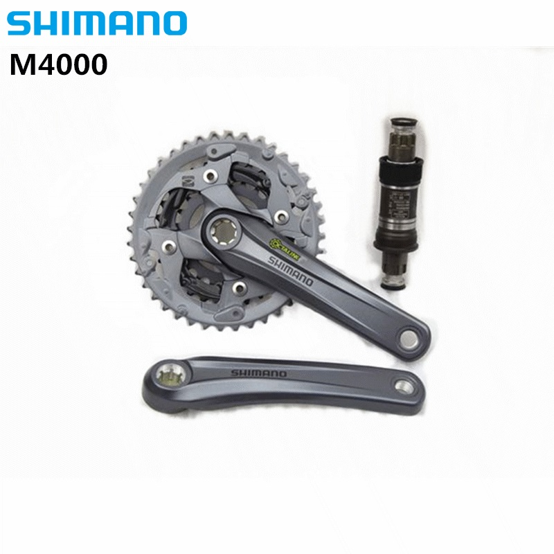 все цены на SHIMANO ALIVIO FC M4000 Mountain Dike Crank Set Aluminium Crank Sprocket 40-30-22T Bicycle Crank & Chainwheel 3X9 Speed