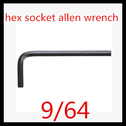 50pcs Lot High Quality Alloy Steel With Black 9 64 Inch Hex Socket Screw Key Allen Wrench