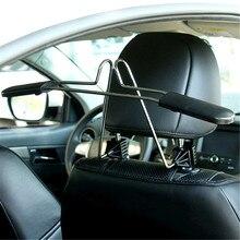1Pcs Stainless Steel Hanger Clothe Car Auto Seat Headrest Coat Hanger Clothes Jackets