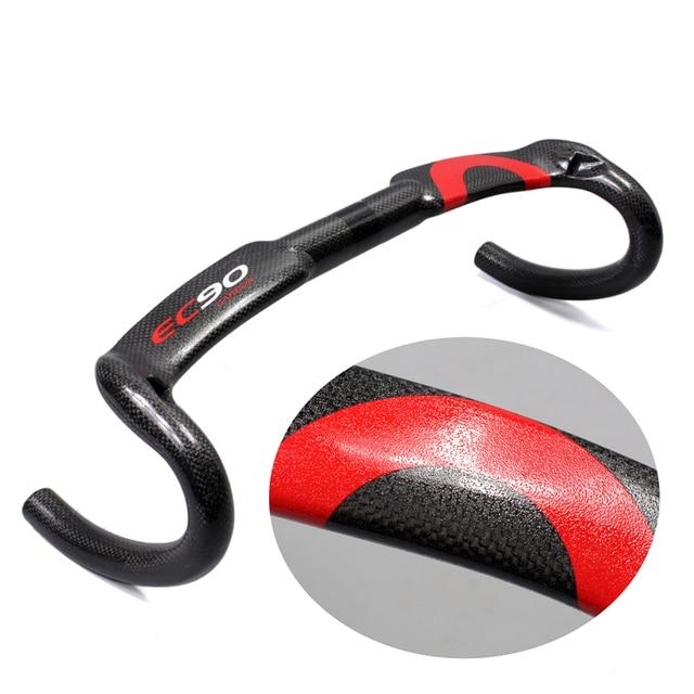 2017 New Particle paint design Carbon full handlebar bent bar carbon fiber road bike handlebar 3K 40/42/44 cm Internal cable