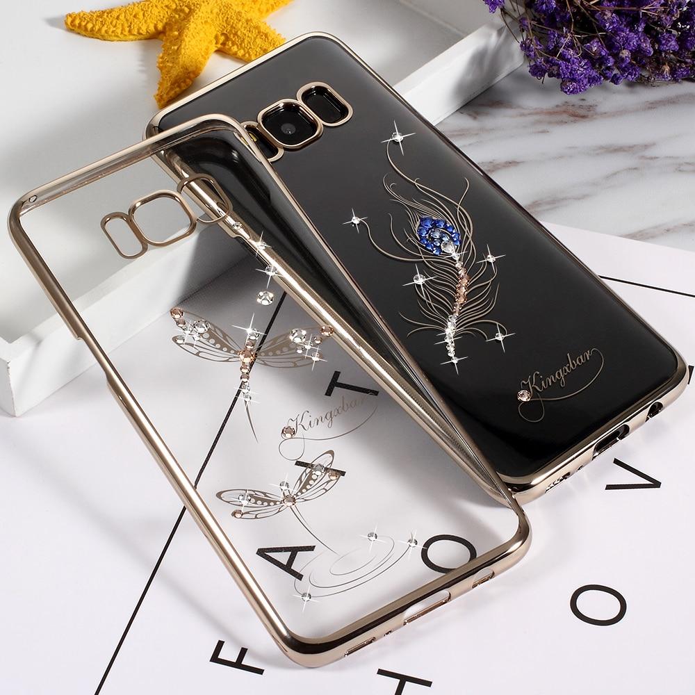 KINGXBAR Original Phone Cases for Samsung S8 S8 S7 S7 edge Classic Series Diamond Electroplating Hard