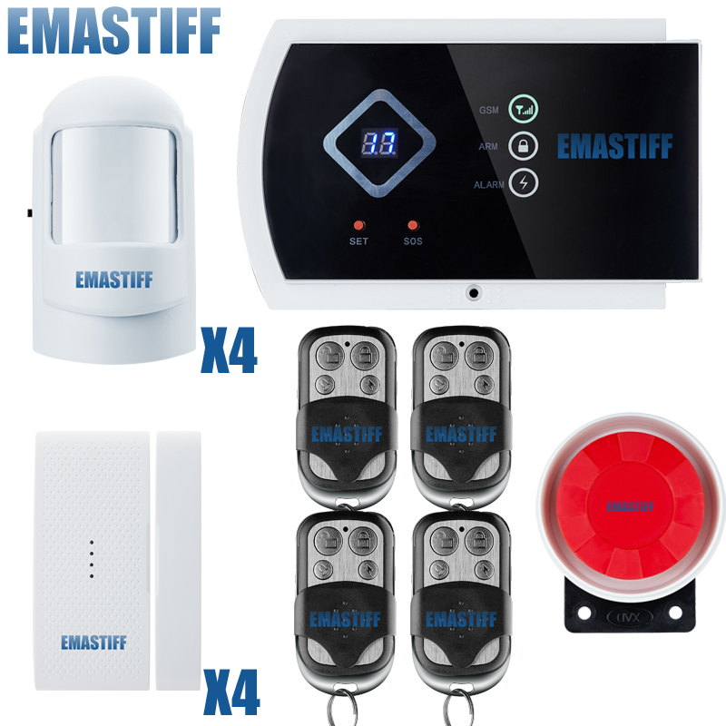 2015 Wireless GSM alarm system home security burglar intruder SMS Alarm Systems with russian voice prompt 850/ 900/1800/1900MHz 850 900 1800 1900mhz russian english spanishwired and wireless lcd home security gsm alarm system