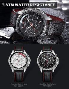 Image 3 - MEGIR zegarek mężczyźni Sport wodoodporny zegar kwarcowy Top marka luksusowy biznes wojskowy męski zegarek Relogio Masculino 1010