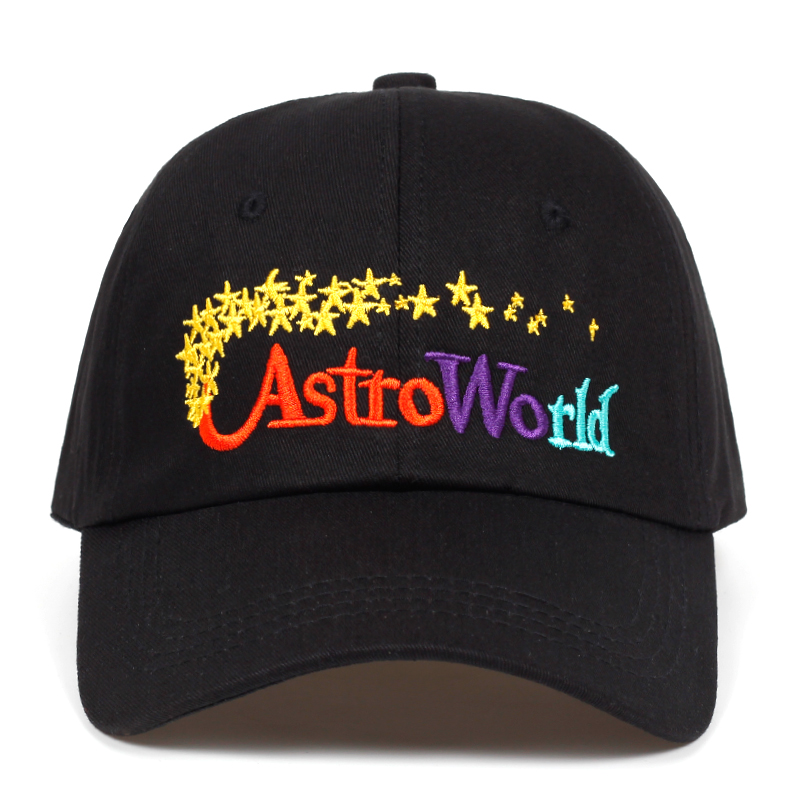 Astro World Dad Hat Cotton Baseball Cap Snapback Hat Summer Hip Hop Fitted Cap Adjustable Golf Hats For Men Women Bone Garros