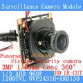 360 Градусов Рыбий Глаз Панорамный Мини 1.3MP AHD Аналоговый Высокой Четкости Видеонаблюдения Модуль Камеры Безопасности крытый ИК ночного видения