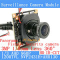360 Graus Fisheye Panorâmica Mini 1.3MP AHD Analógico Módulo de Câmera de Alta Definição de Vigilância de Segurança interior visão nocturna do IR