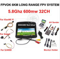 6km FPV Combo System Boscam 5.8Ghz 600mw Video Transmitter and Receiver Suit For SJ4000 XiaoMi Yi Sport Action Camera Gopro 3 4