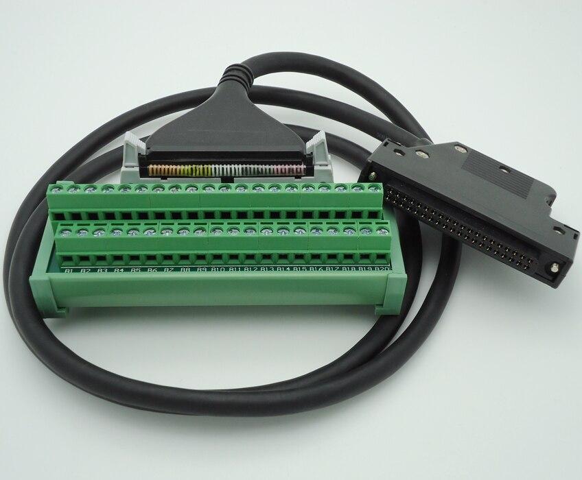 PLC terminal station connectors suitable Q series I/O module with 1 meters cable 554090 1 i o connectors recpt 50p panel mnt low profile plas mr li