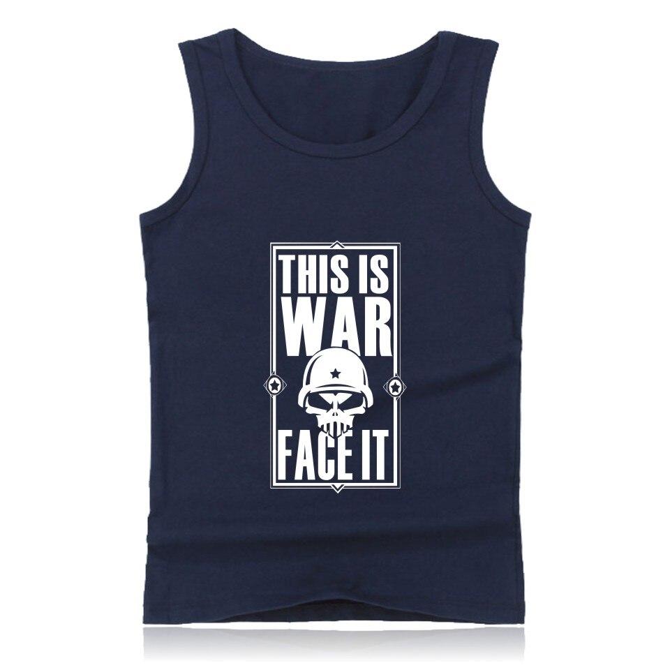 LUCKYFRIDAY 2018 warface tank tops for men women summer warface fitness bodybuilding tank top black/white/ undershirt 4xl
