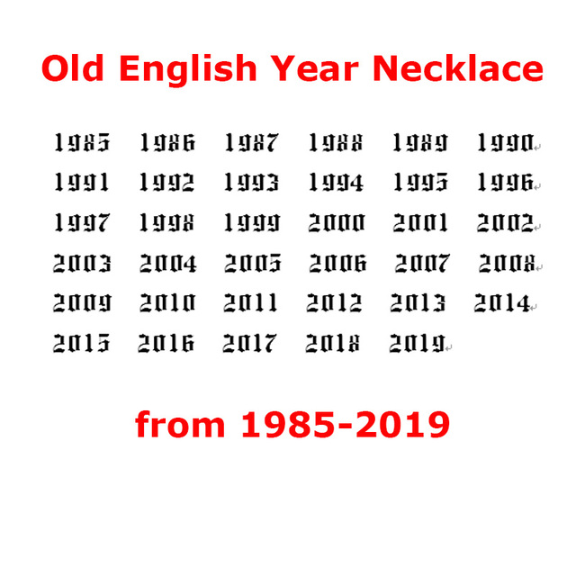 Birth Year Necklace For Women Stainless Steel Gold Color Year Number Gold Pendant Necklaces 2020 Fashion Jewelry Birthday Gift 6