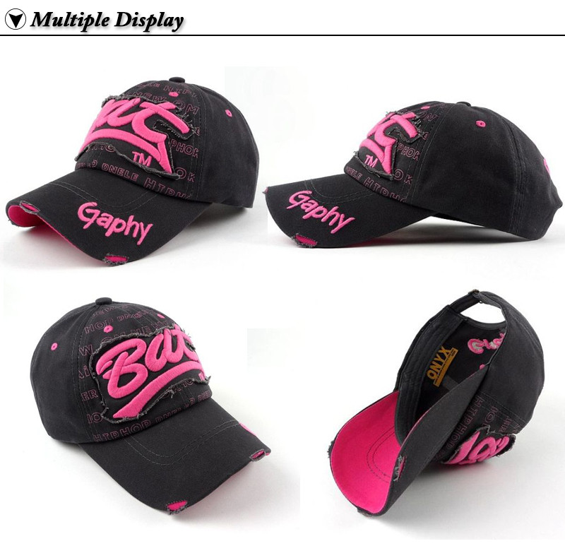 """Embroidered """"Bat"""" Baseball Cap - Left Angle, Right Angle, Side and Upside-down Views"""