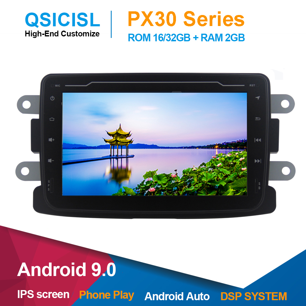 Android 9.0 IPS 7 car dvd gps player for Duster/Dacia/Sandero/Logan/Captur/Lada/Xray headunit 2 din car gps multimedia stereo image