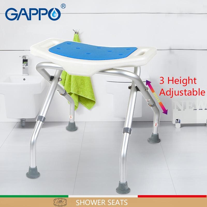 Gappo Wall Mounted Shower Seats Trainer Bathroom Height Adjustable Toilet Bathroom Seat Toilet Bath Seat Leather Bag