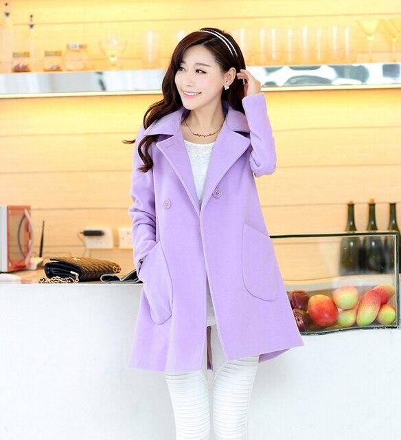 65a4390b885f Korean A-line Double-Breasted Long Winter Coat Women 2014 Fashion Female  Jacket