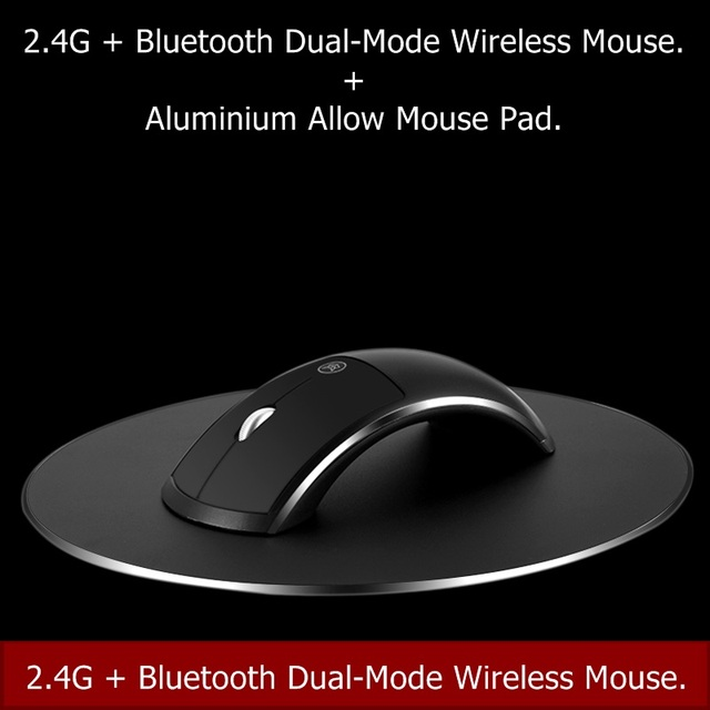 96fa7ae9c37 2019 new top 1600DPI DPI adjustable 2.4G+ Bluetooth Dual-Mode Rechargeable  Wireless mouse for Notebook Desktop PC