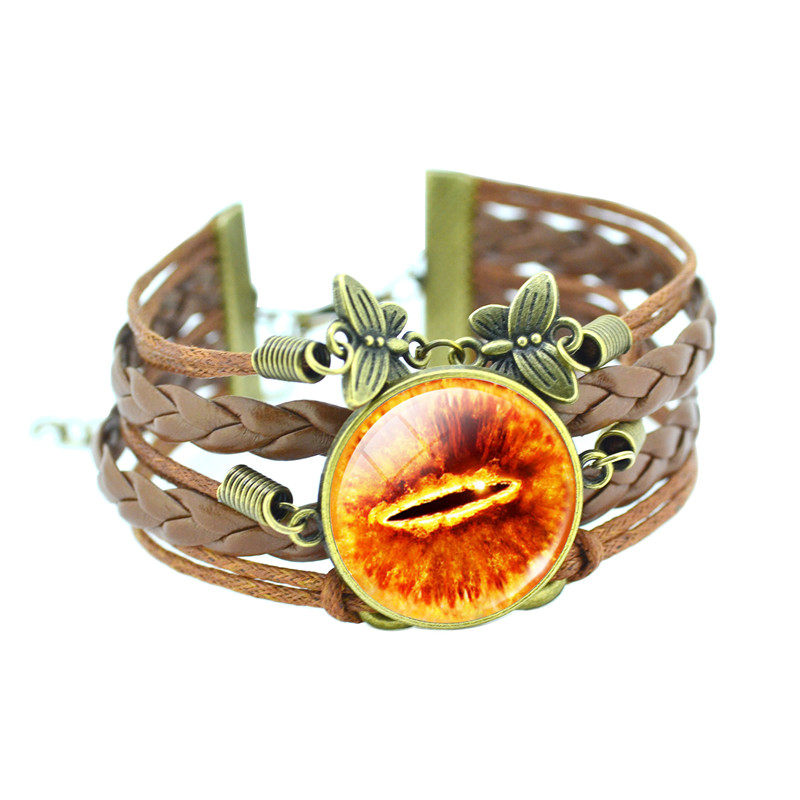 Infinity Friendship Bracelet Eye of Sauron Glass Charm 5
