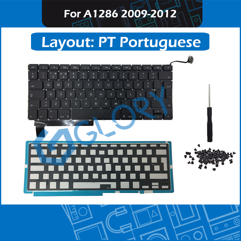 New A1286 PT Portuguese Keyboard For font b Macbook b font Pro 15 4 2009 2012