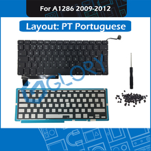 New A1286 PT Portuguese Keyboard For Macbook Pro 15.4″ 2009-2012 Replacement Keyboard with Backlight Screws Tool