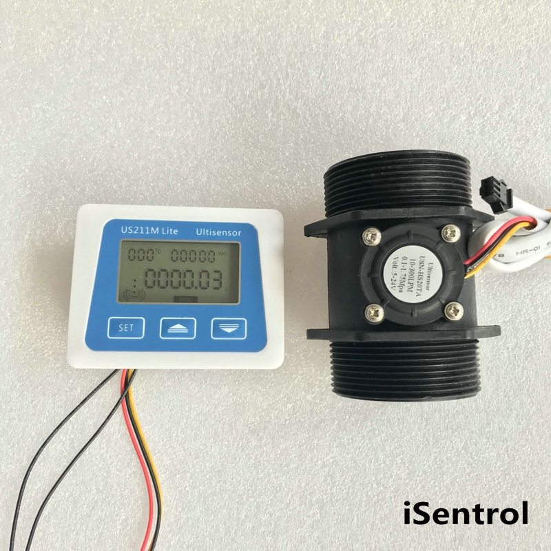 US211M Lite USN HS20TA 10 300L min 2 Digital Flow Meter Flow Reader Compatible with all