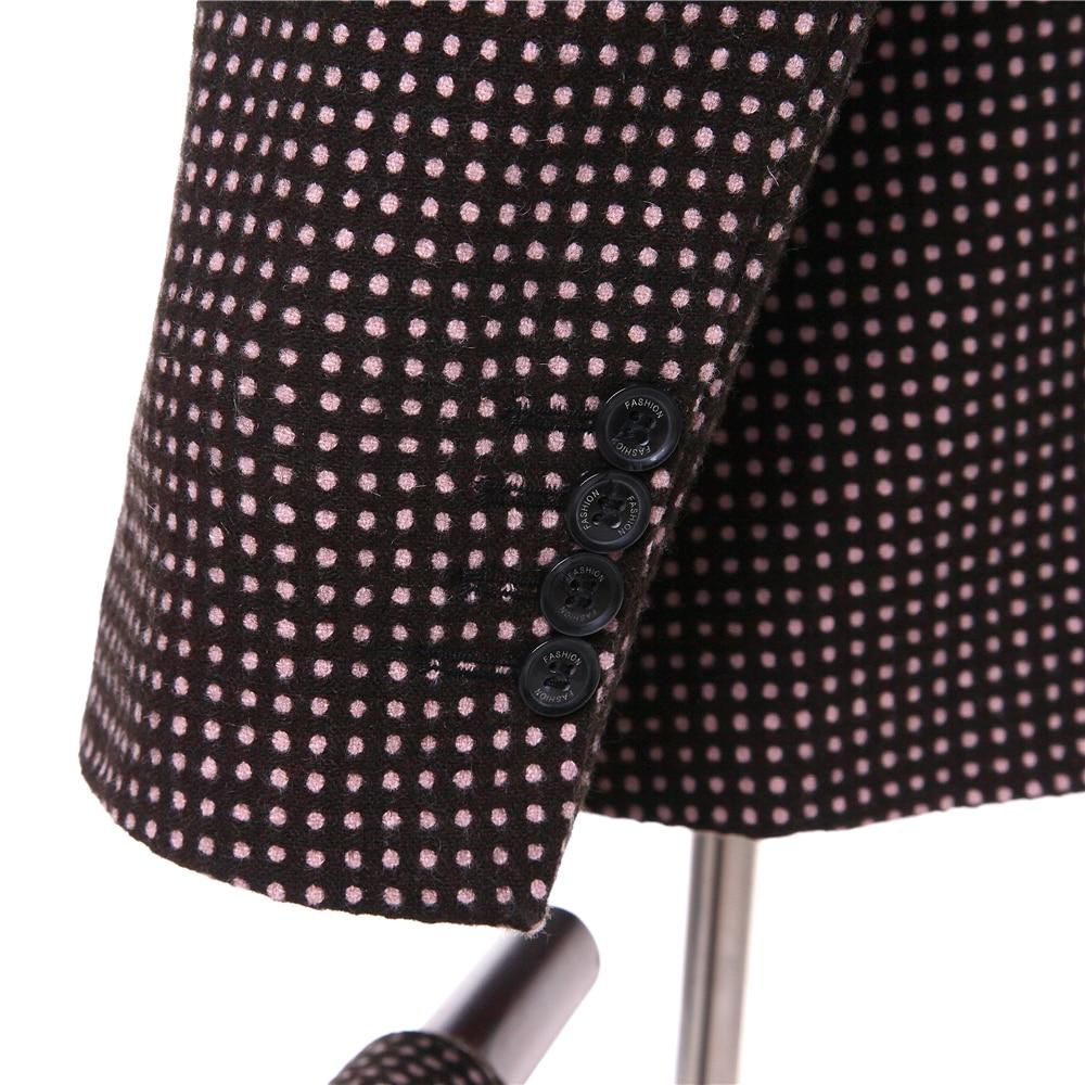 Nouveau Et Dot Personnalisé Hommes Revers Picture Costume Gilet Robe Mariage Noir veste Picture De Single D'affaires same Pantalon Rouge breasted Same As rargqdFnWP