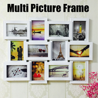 62x48cm 12 Pictures Frames Wall Photo Frame Home Design Multi Pictures Collage Wedding Photo Frame Wall Decoration Memories Gift