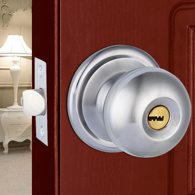 Free Shipping Gold Silver High Quality Indoor Room Ball Type Bedroom Door Lock In Locks From Home Improvement On Aliexpress Alibaba Group