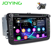 JOYING Android 8,1 auto radio player 2 din autoradio unterstützung 4G Octa Core 4GB + 64GB für volkswagen/Sitz/Skoda DSP kostenloser kamera