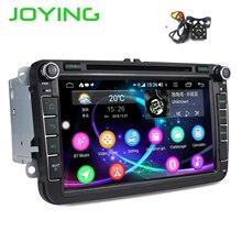 JOYING autoradio Android 8.1, 4 go/64 go, DSP, lecteur vidéo, 2 din, compatible avec 4G, Octa Core, sans caméra, pour voiture Volkswagen/Seat/Skoda