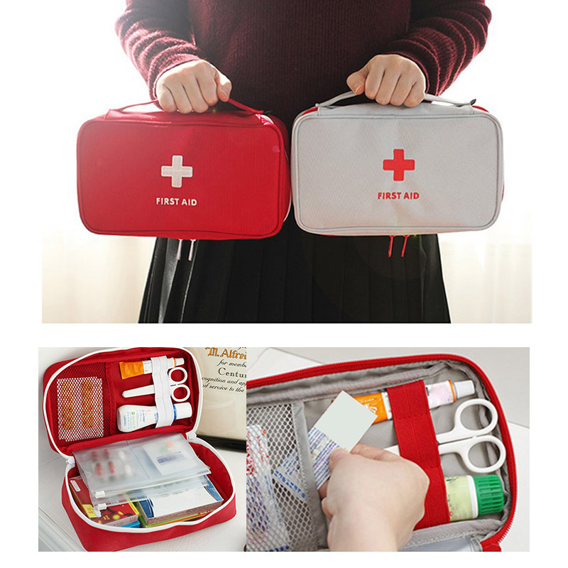 Portable Camping First Aid Kit For Medicines Bag Outdoor Bag Survival Handbag Emergency Travel Set Portable RescueTreatment Big