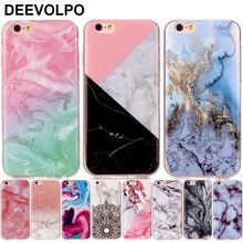 DEEVOLPO Silicone Phone Case Fundas For Apple iPhone 8 7 6 6S Plus 4S 5 5S SE 5C ipod touch 6 Soft Marble Stone Cover Capa D01G(China)