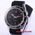 Роскошные фирменные автоматические мужские часы miyota  41 мм  деберты  черные  со стерильным циферблатом  вращающимся керамическим ободком  C84B
