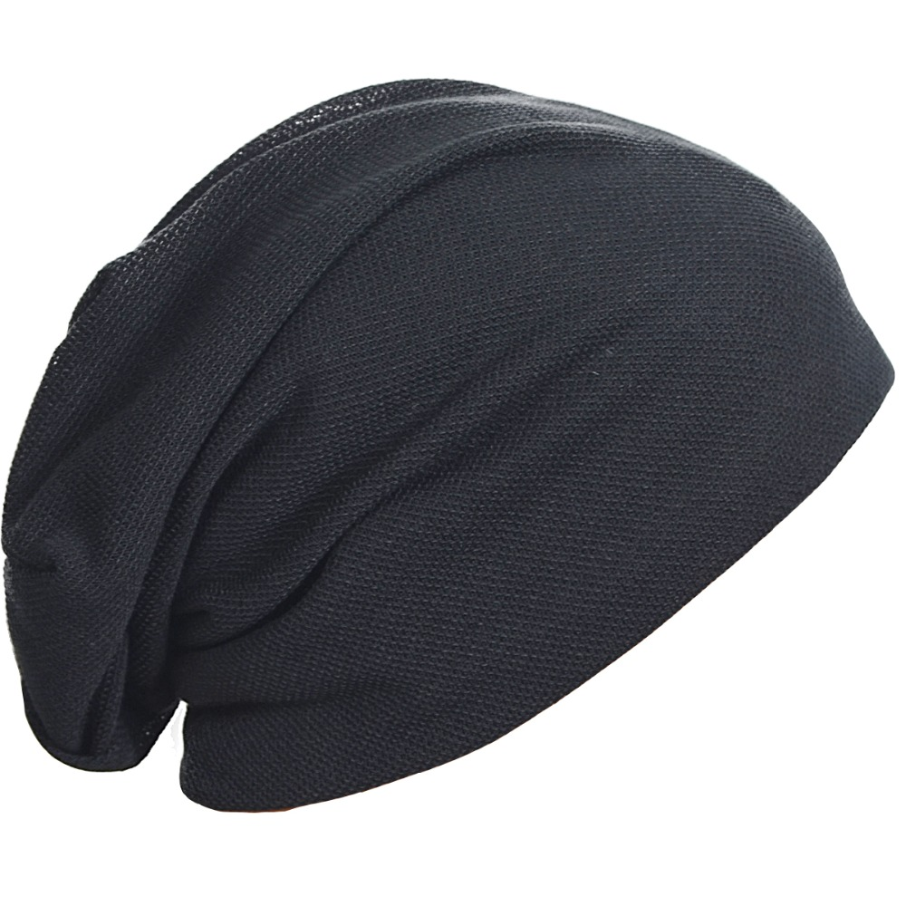 f7c4503f1e5 Men Thin Slouchy Beanie Hat Slouchy Skullcap Oversized Summer Cap FORBUSITE-in  Skullies   Beanies from Apparel Accessories on Aliexpress.com