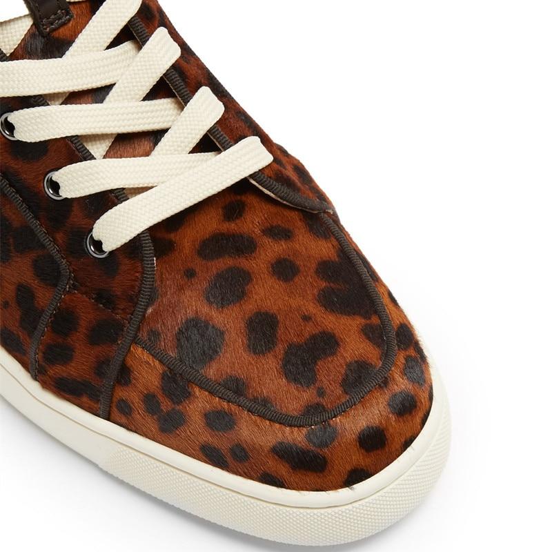 Qianruiti nuevos zapatos para hombre al aire libre, zapatos vulcanizados con diamantes de imitación, zapatos de Camping planos con cordones para hombres, zapatos de talla grande 39 47 - 4