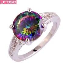 Женское кольцо с круглым кубическим цирконием размер 6 7 8 9