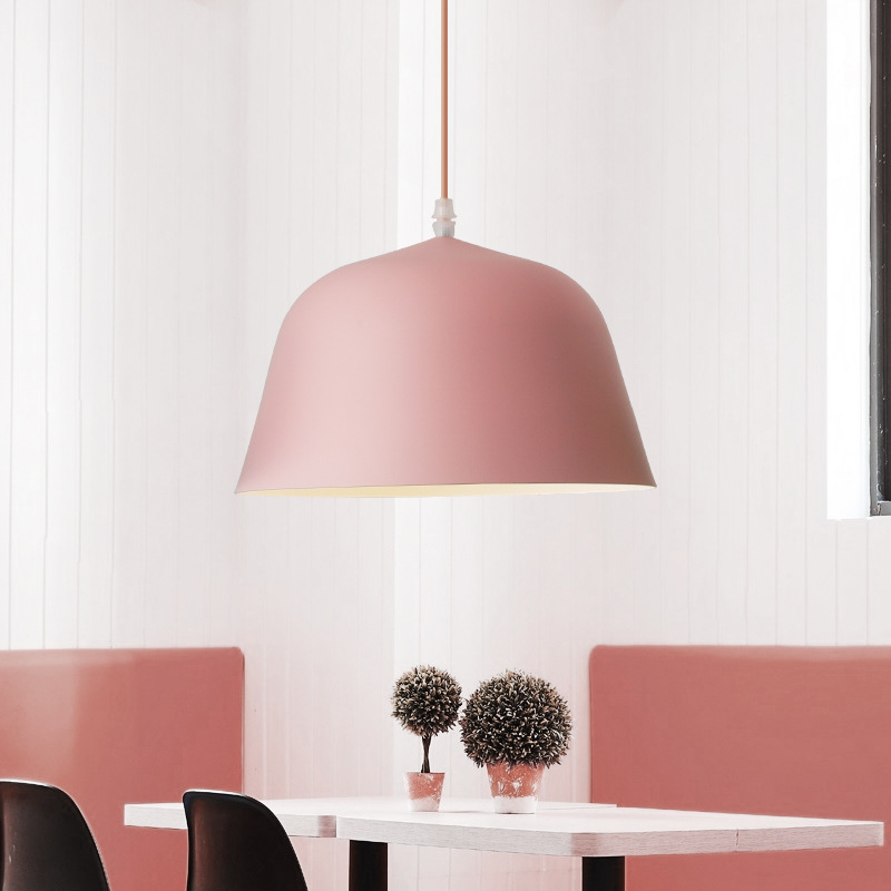 Northern Europe Simple Creative Personality Chandelier Bar Coffee shop Bedroom Study Restaurant Macaron INS Pink Lamps ColorNorthern Europe Simple Creative Personality Chandelier Bar Coffee shop Bedroom Study Restaurant Macaron INS Pink Lamps Color