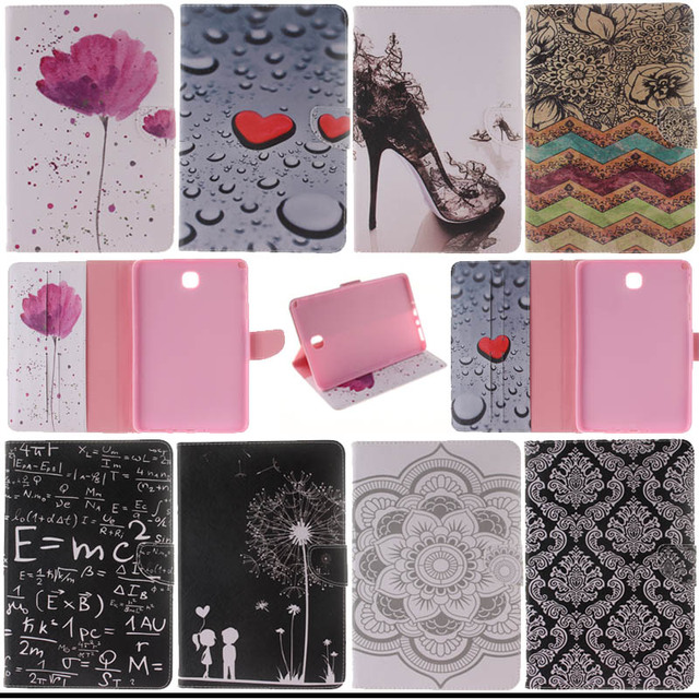 For Samsung Galaxy Tab A 8.0 T350 T351 SM-T355 Painted Flip PU Leather Case cover Tablet cases For Samsung T350 8 inch S4D33D
