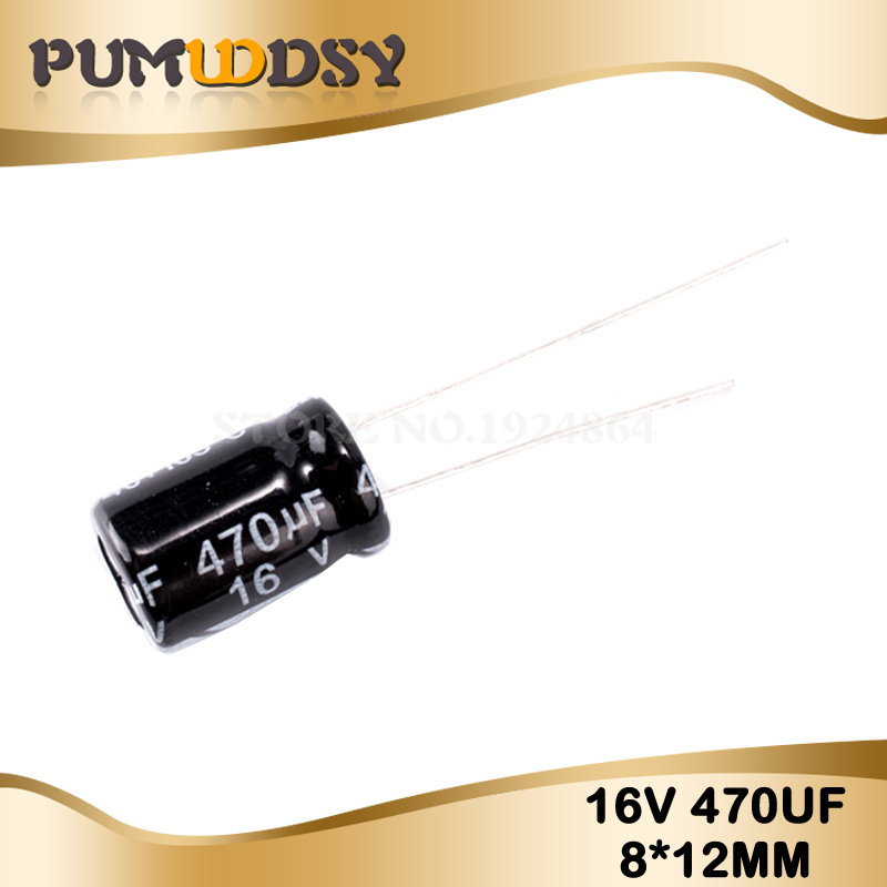 20PCS Higt Quality 16V470UF 8*12mm 470UF 16V 8*12Electrolytic Capacitor