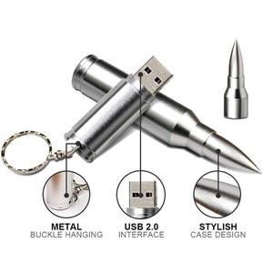 Image 4 - Metal 16GB 32GB Pendrive Creative Bullet USB Flash Drives 64gb Pen Drive Memory Stick For Laptop Desktop PC