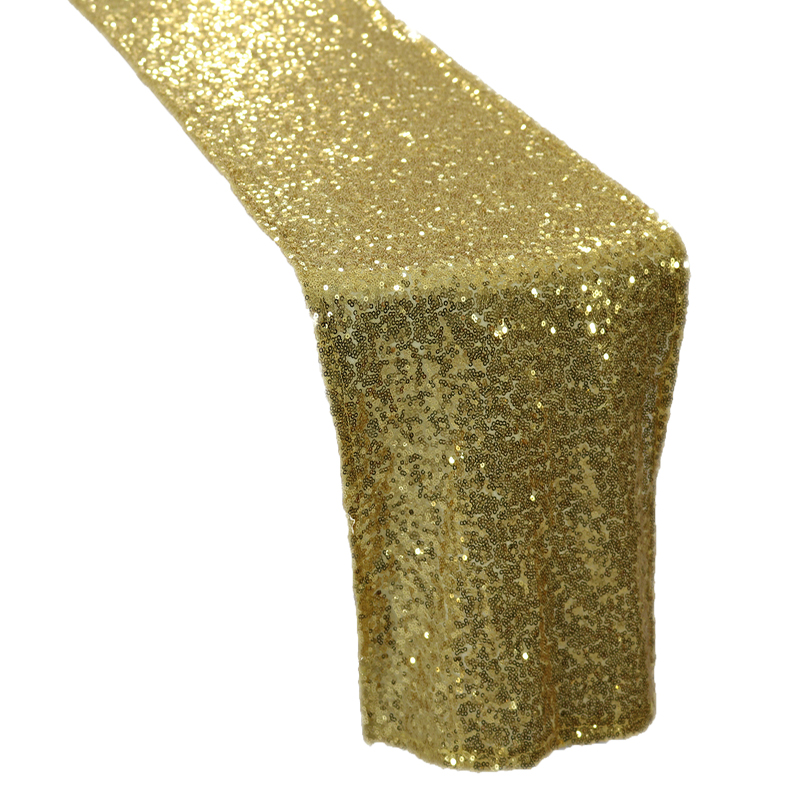 5pcs SHiny Gold Sequin Table Runner for Weddings Events Sequin Table Runner for Weddings Events,Banquet,Party Decoration