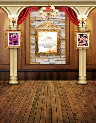8x15ft indoor curtain pillars love frame lamp wooden floor wedding background customize photo backdrop studio vinyl 8x10 10x20